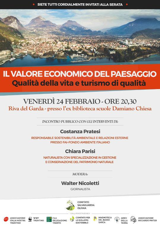 Il valore economico del paesaggio. Qualità della vita e turismo di qualità